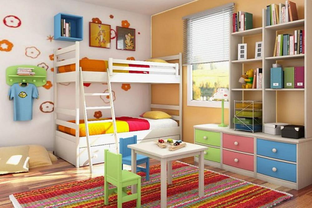 غرف نوم أطفال بتصاميم عملية للمساحات الصغيرة 1386071