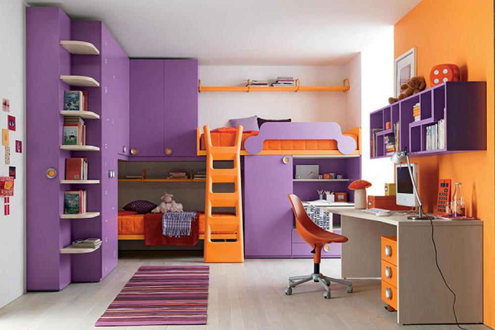 غرف نوم أطفال بتصاميم عملية للمساحات الصغيرة 1386073