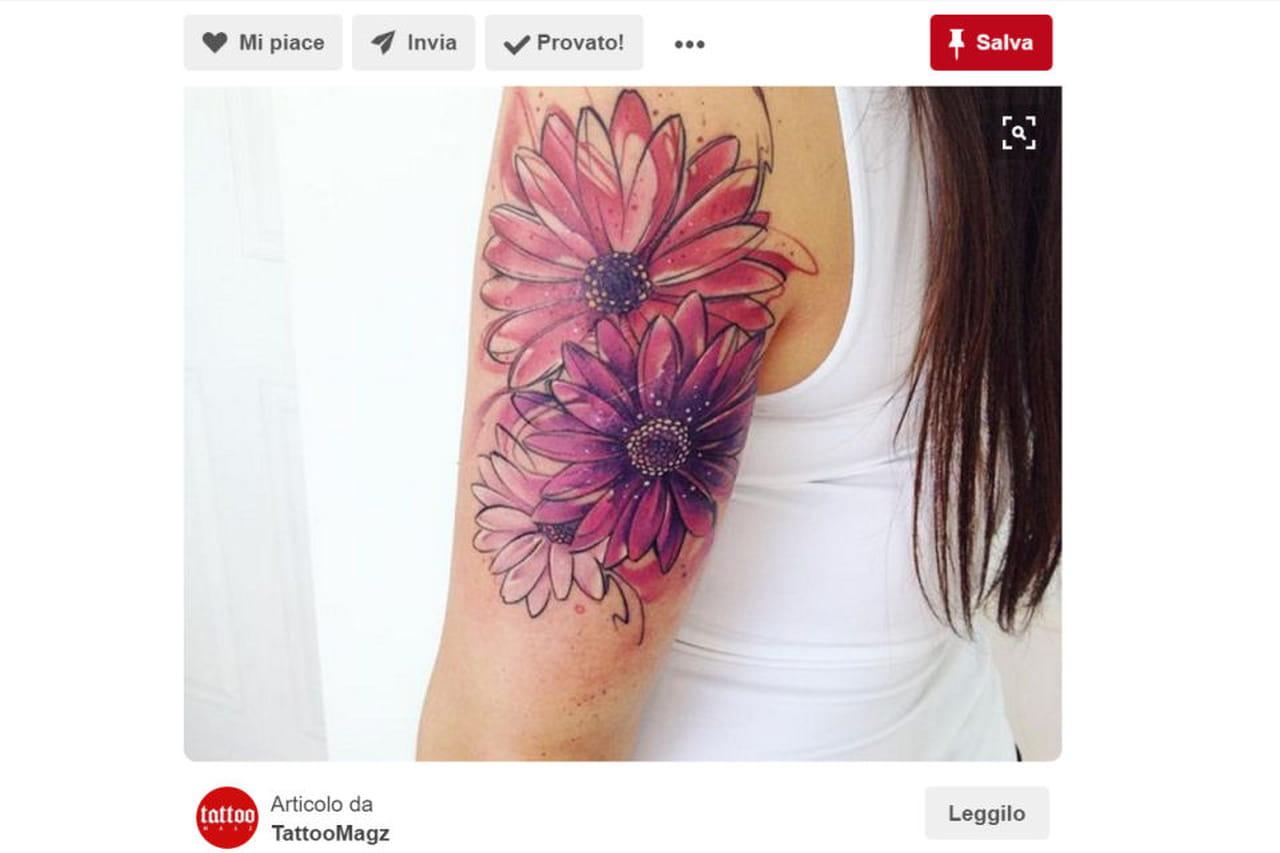 Il significato dei fiori tattoo floreali il significato della gerbera altavistaventures Gallery