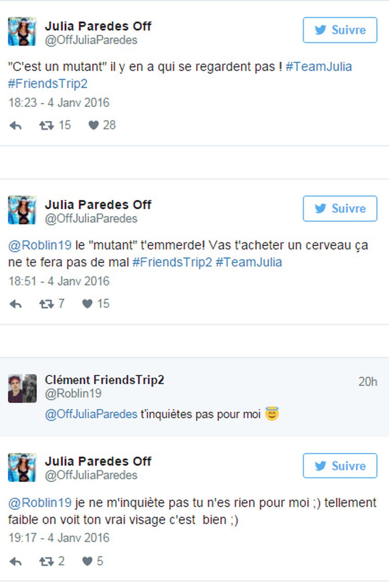 Julia  Friends Trip 2    Critiqu U00e9e Sur Son Physique  Elle Clashe Cl U00e9ment