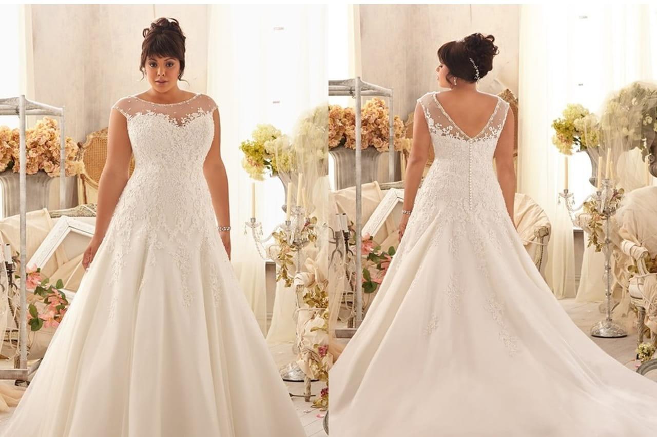 ae4eab1ff Vestidos de noiva plus size  veja 10 modelos inspiradores