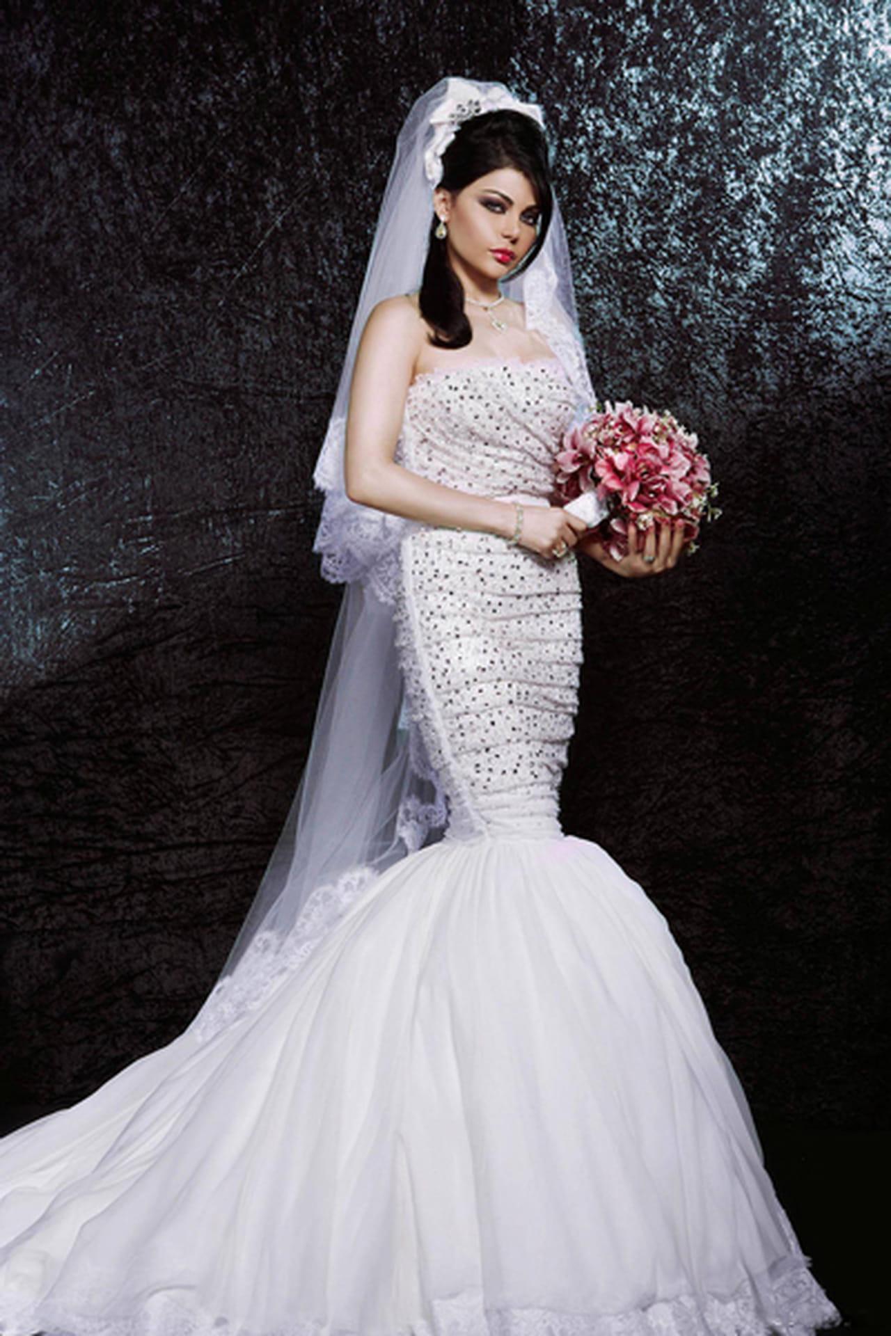 فستان زفاف هيفاء وهبي
