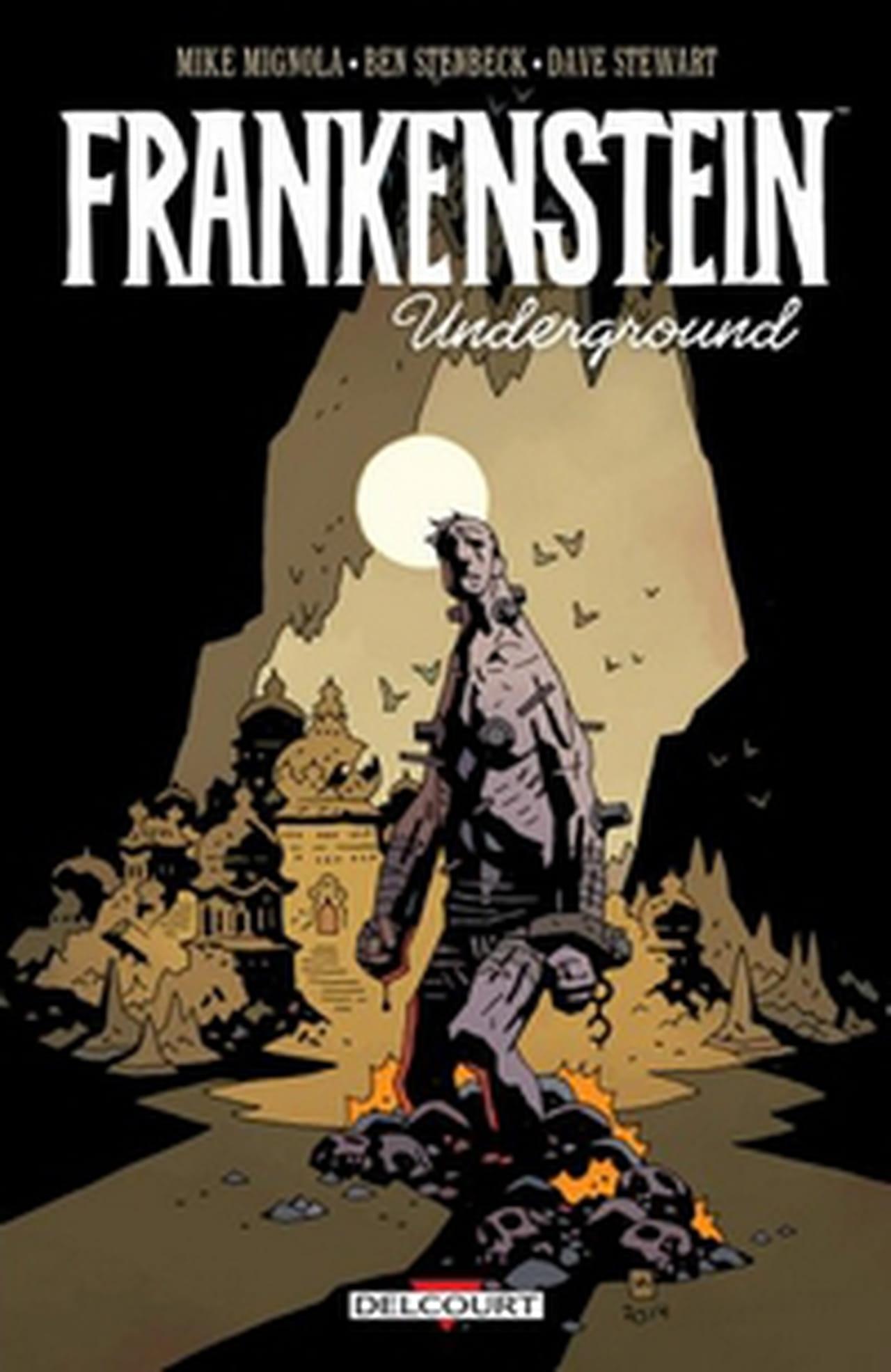 la cr u00e9ature de frankenstein dans la terre creuse