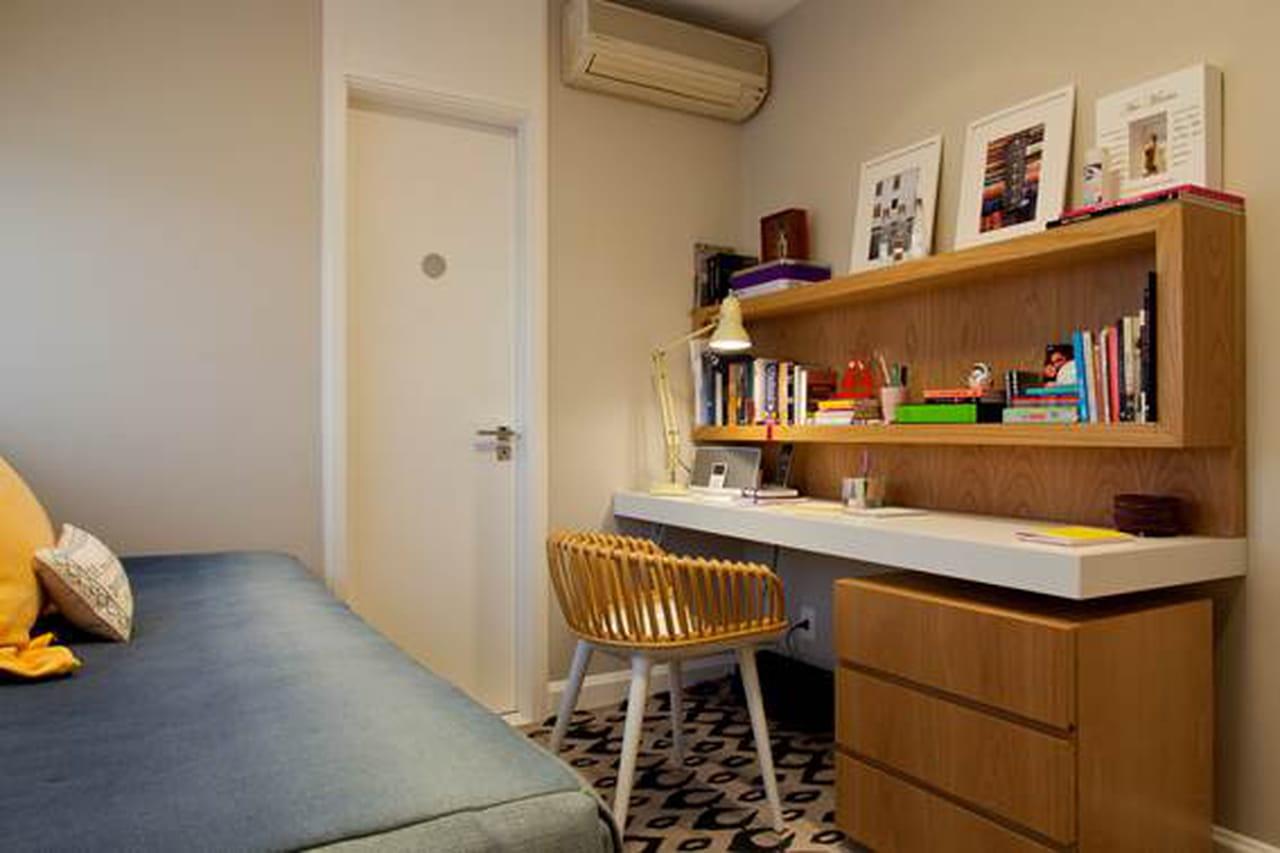 Decora O De Apartamento Pequeno 15 Dicas Para Aproveitar Bem Os  ~ Home Office No Quarto De Solteiro
