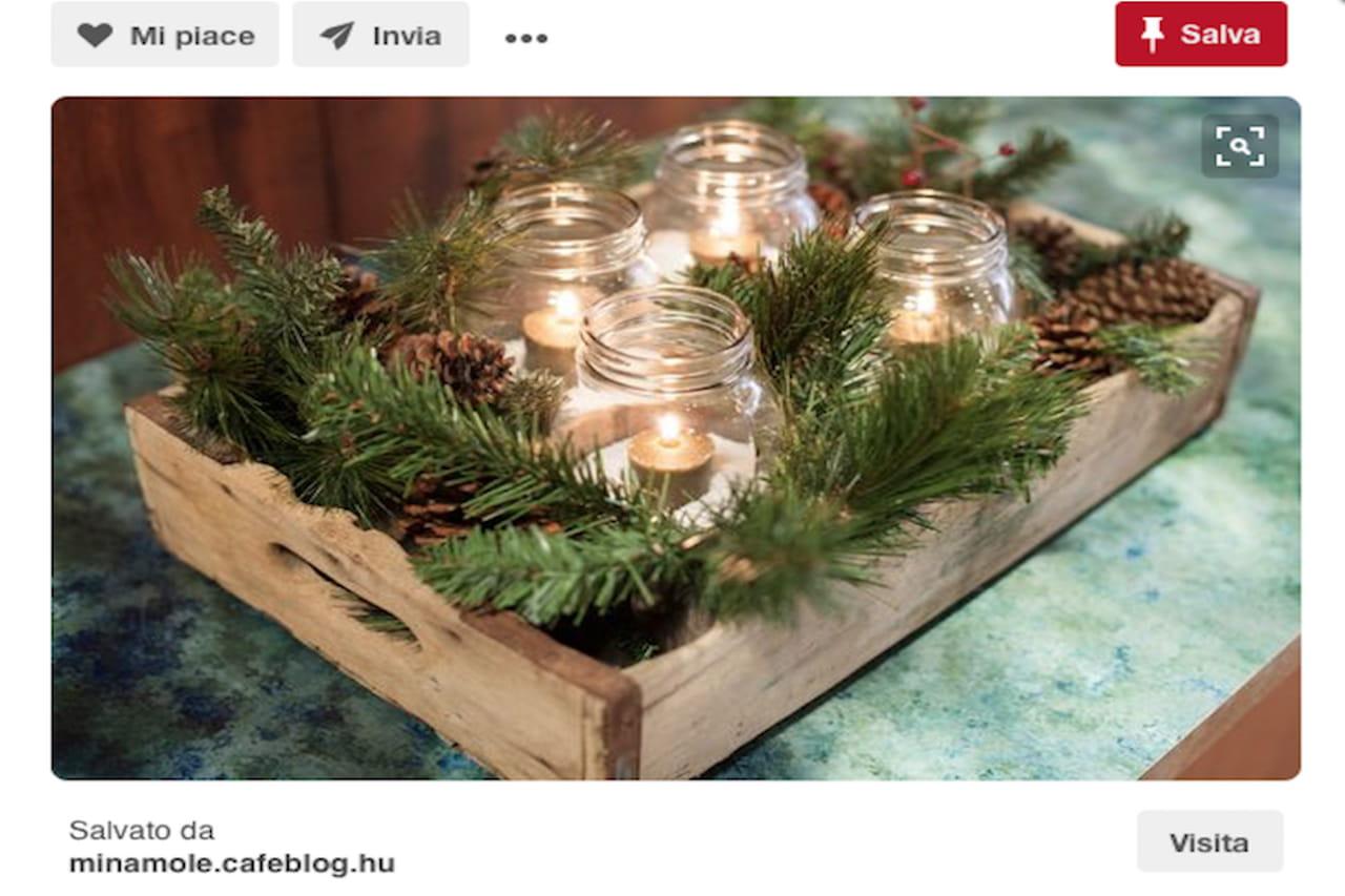 Centrotavola natalizio idee da pinterest con bacche - Rami di legno decorativi ...