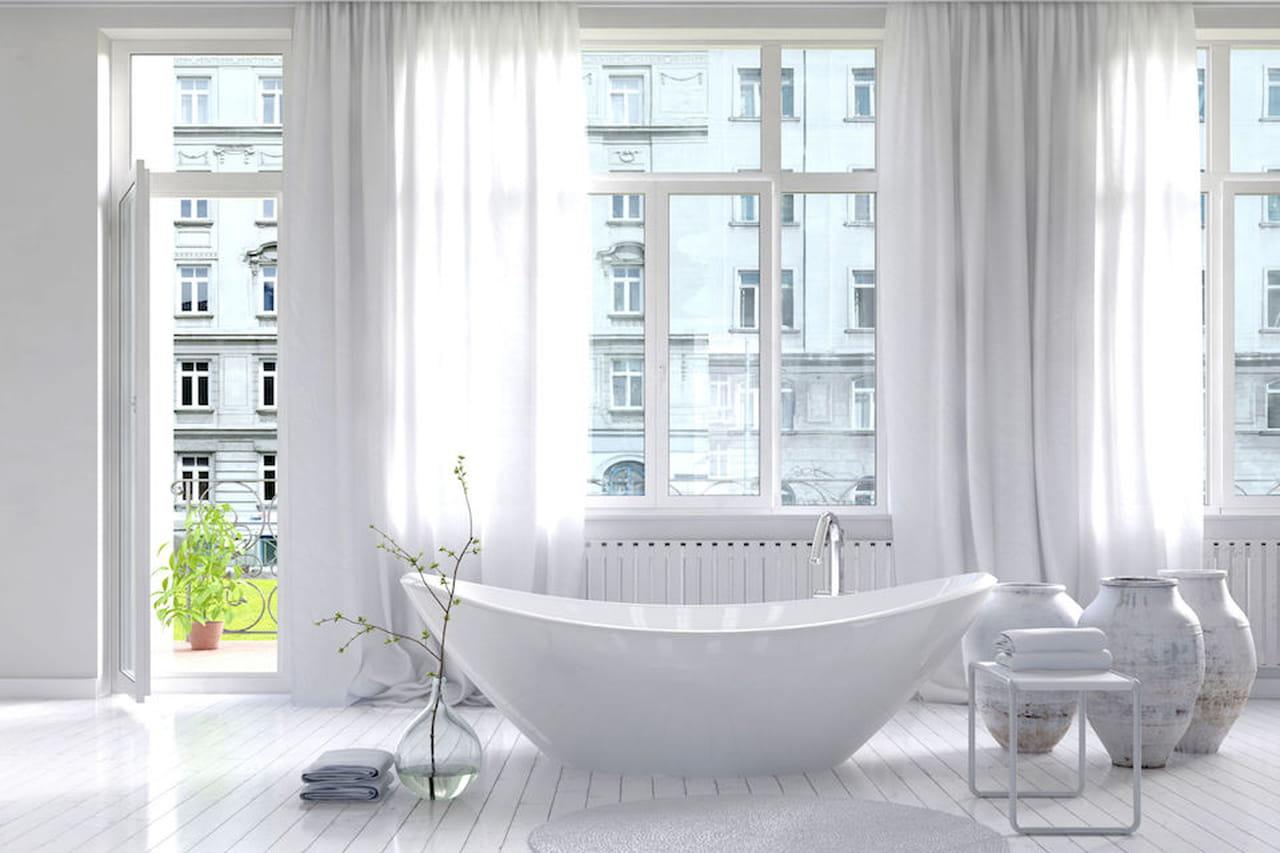 Tende per bagno vasca doccia e finestre impeccabili - Tende per finestra del bagno ...