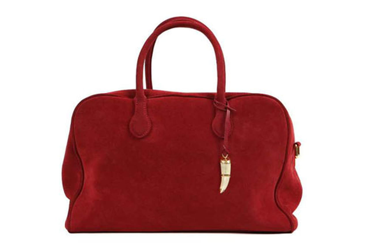 حقيبة مخملية بالأحمر الداكن من بالمان Balmain