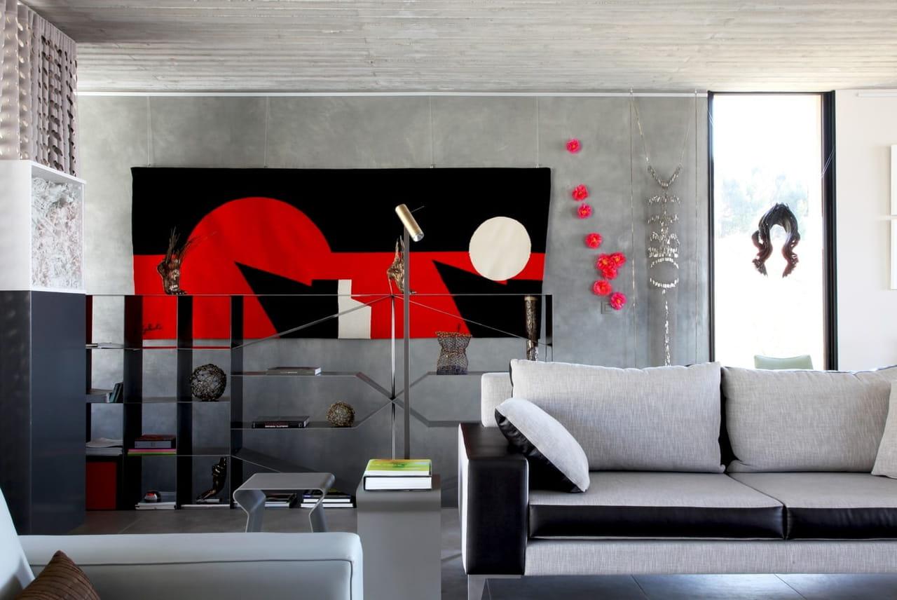 Sala Cinza Dicas E Fotos Para Acertar Na Decora O -> Sala Em Cinza E Vermelho