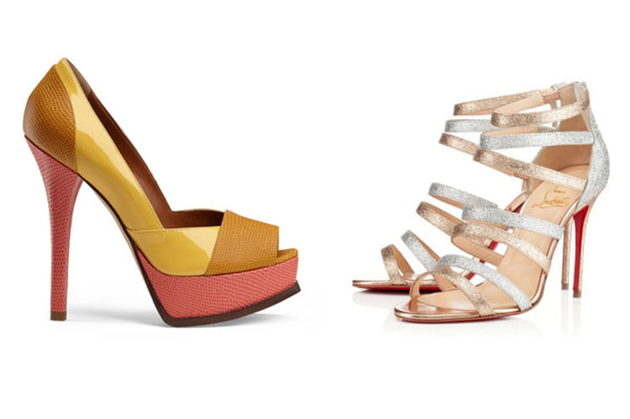 886b46775 ... هذة المجموعة الفريدة من أحذية ربيع وصيف 2014 والموقعة من أشهر الماركات  العالمية مثل فندي Fendi، وكريستيان لوبوتان Christian Louboutin وكارولينا  هيريرا ...