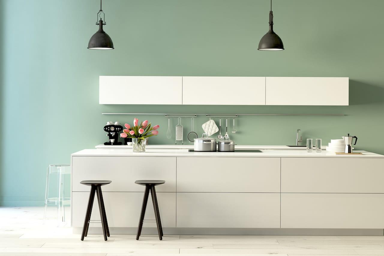 Colori pastello soluzioni per pareti non solo interne - Peinture pour meubles de cuisine en bois verni ...