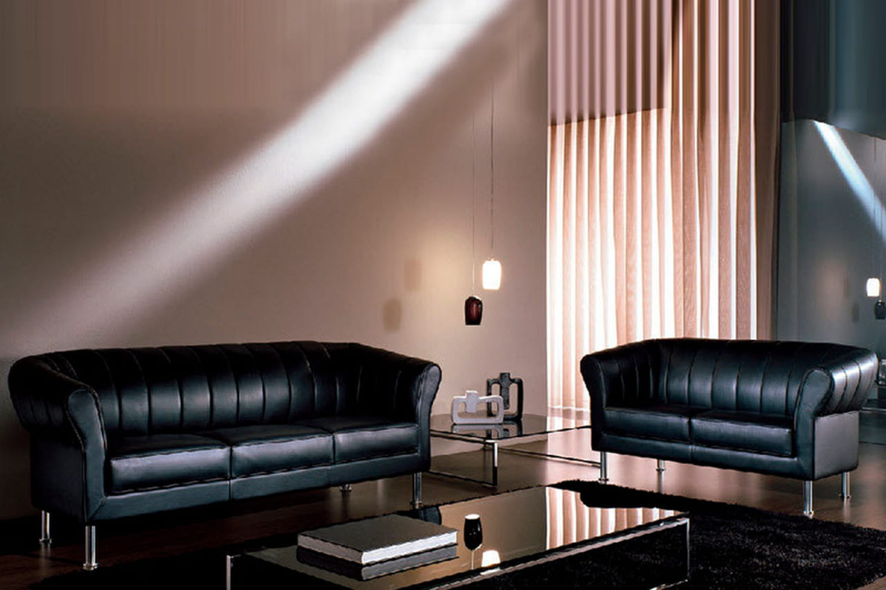 صور أريكة عصرية من الجلد الاسود لمسه ديكور ساحرة فى منزلك