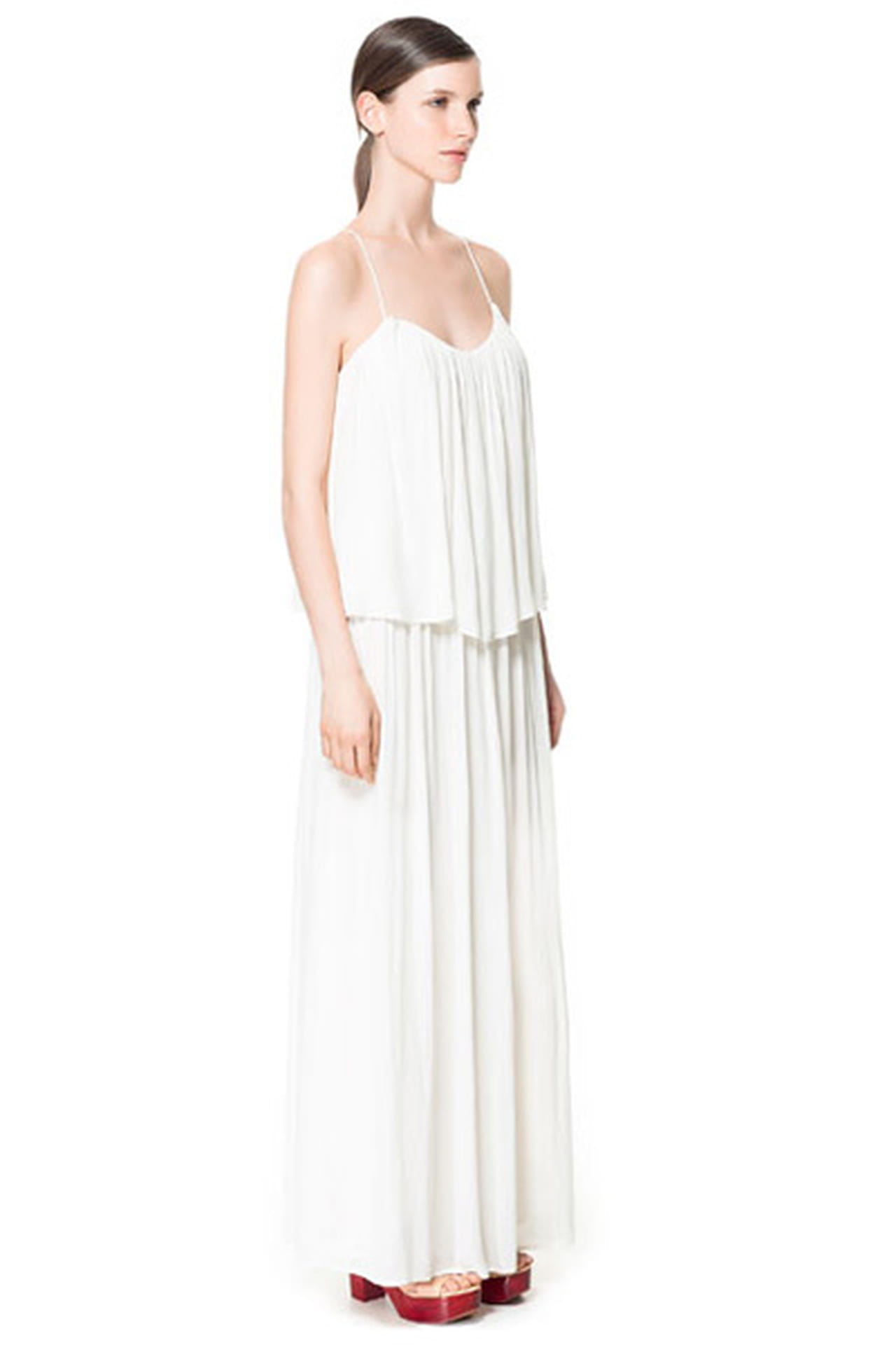 0a31d7754c732 فستان صيفي طويل من Zara. فستان أبيض من Zara. من موضة صيف 2013