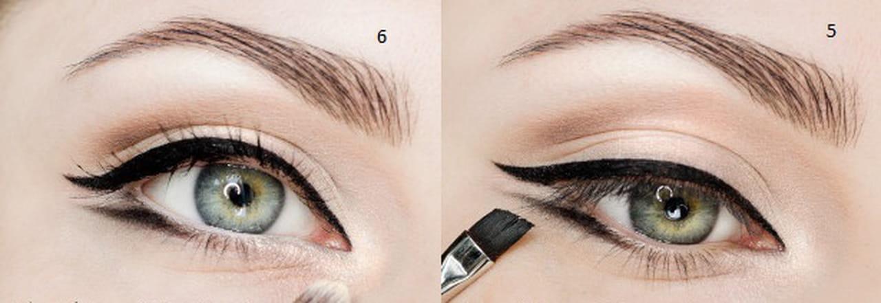 83c500cad1eed 6- أضيئي الزاوية الداخلية للعين باستخدام مظلل الجفون الأبيض اللامع.