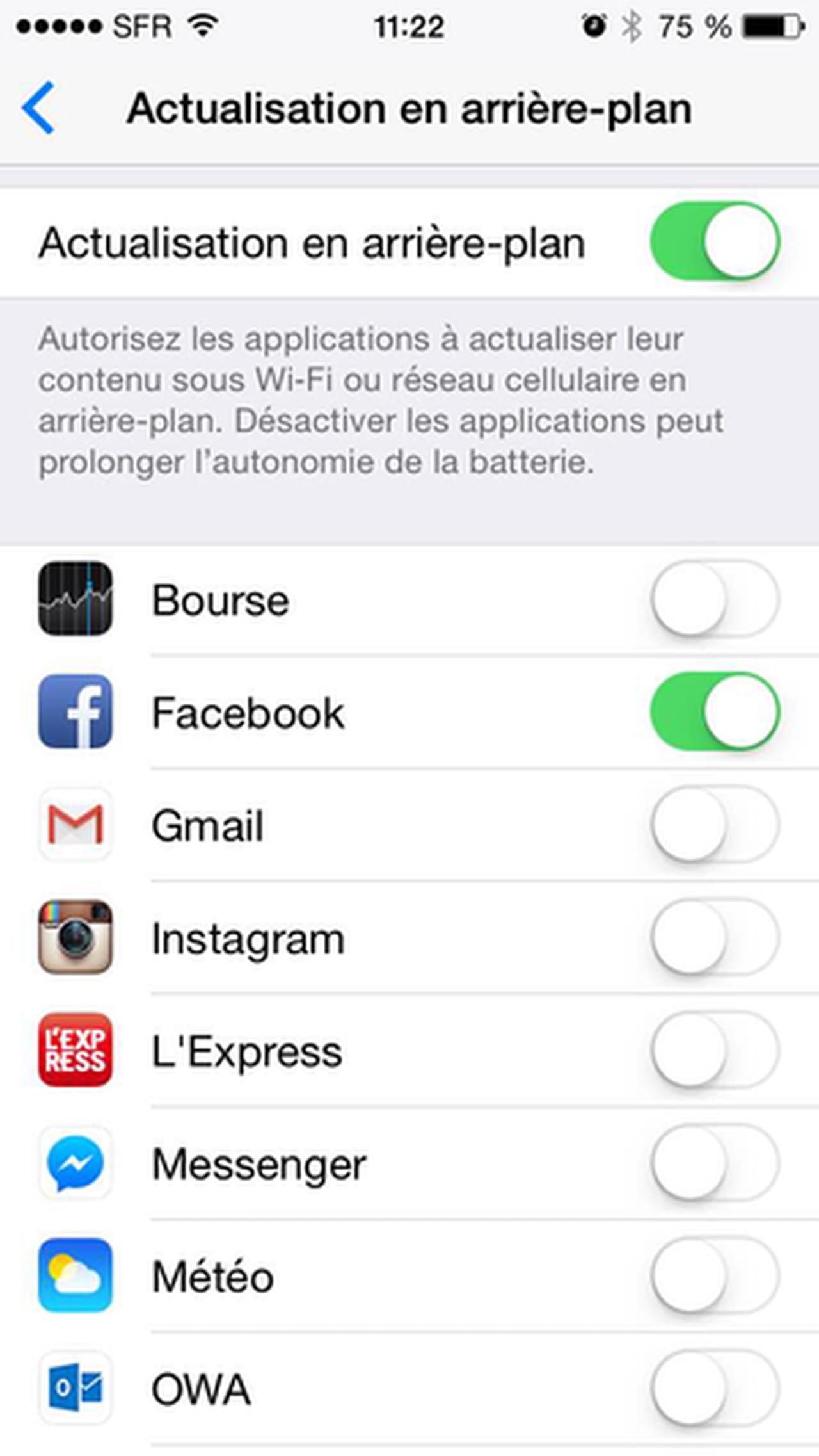autoriser une application sur iphone