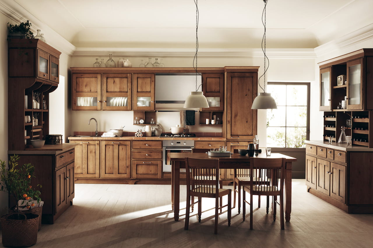Cucina country chic usata o in muratura - Cucina country chic ...