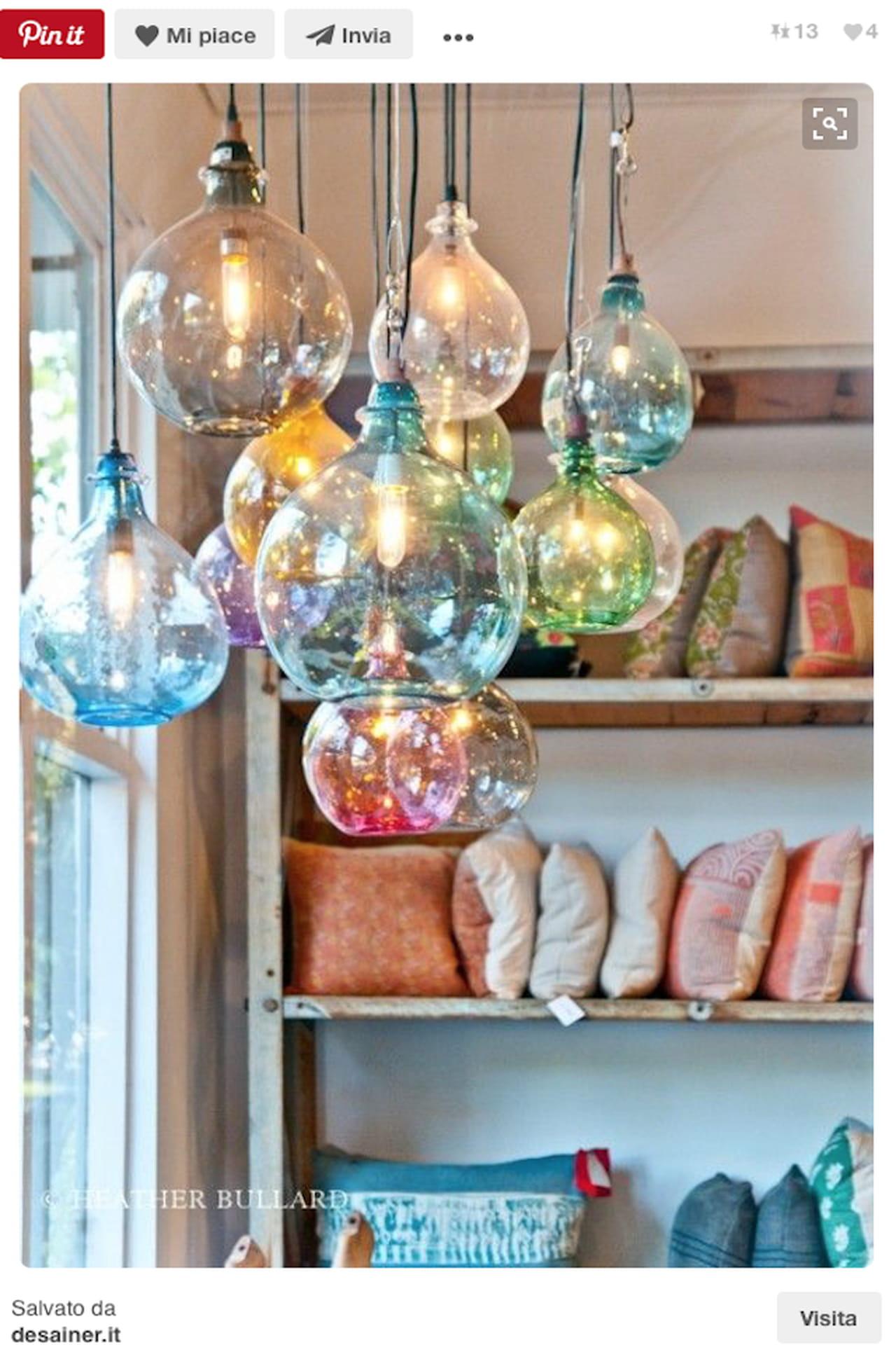 Lampade fai da te con bottiglie di vetro idee creative for Portacellulare da tavolo fai da te
