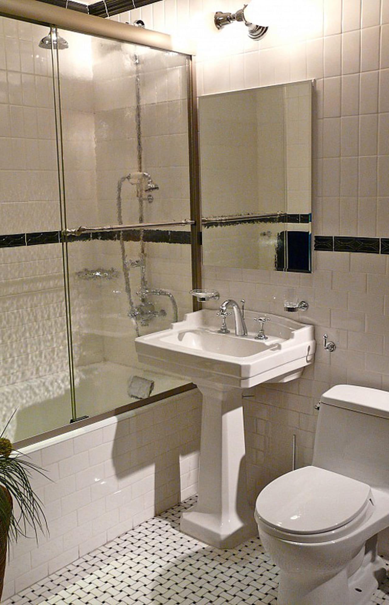 أفكار أنيقة وعملية لديكورات الحمام صغير المساحة