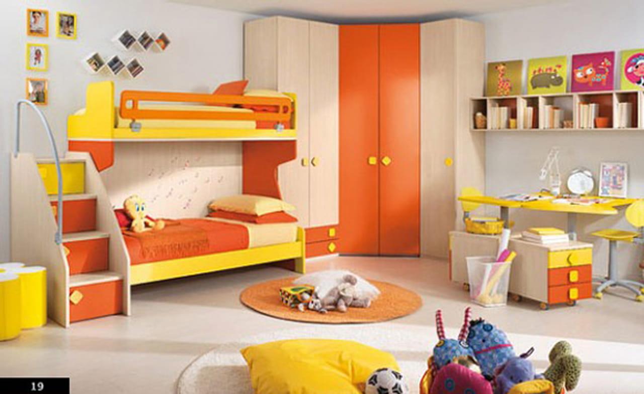 أفكار غرف نوم الأطفال بألوان مرحة ومشرقة بالفرح.