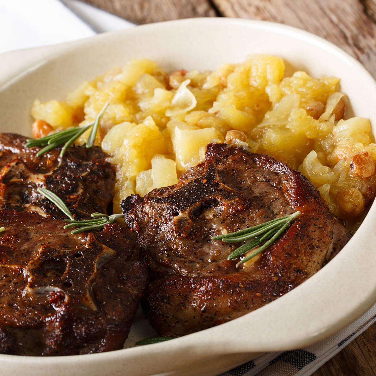 وصفات عيد الأضحى ستيك لحم الغنم مع التفاح الحار
