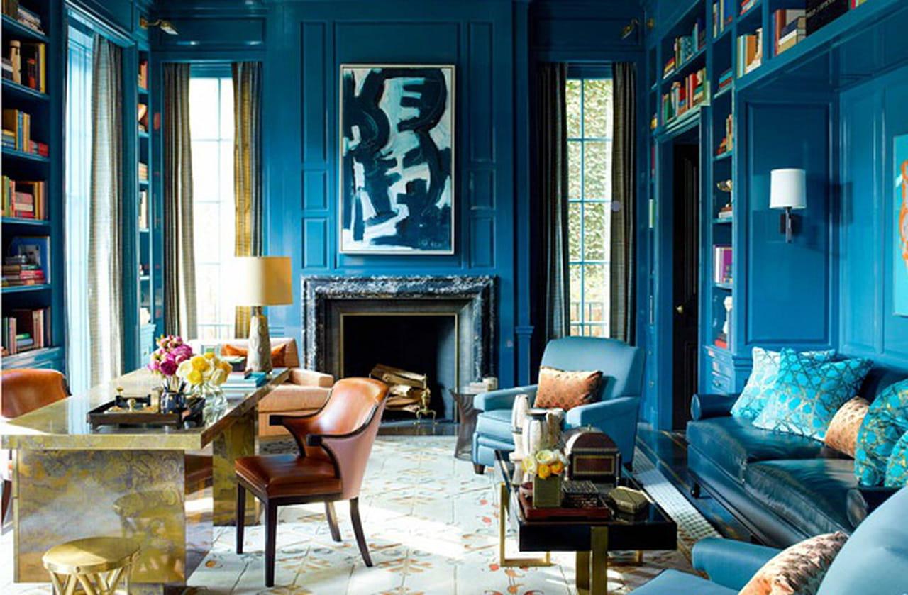 كيف تدرجين اللون الأزرق في ديكورات المنزل