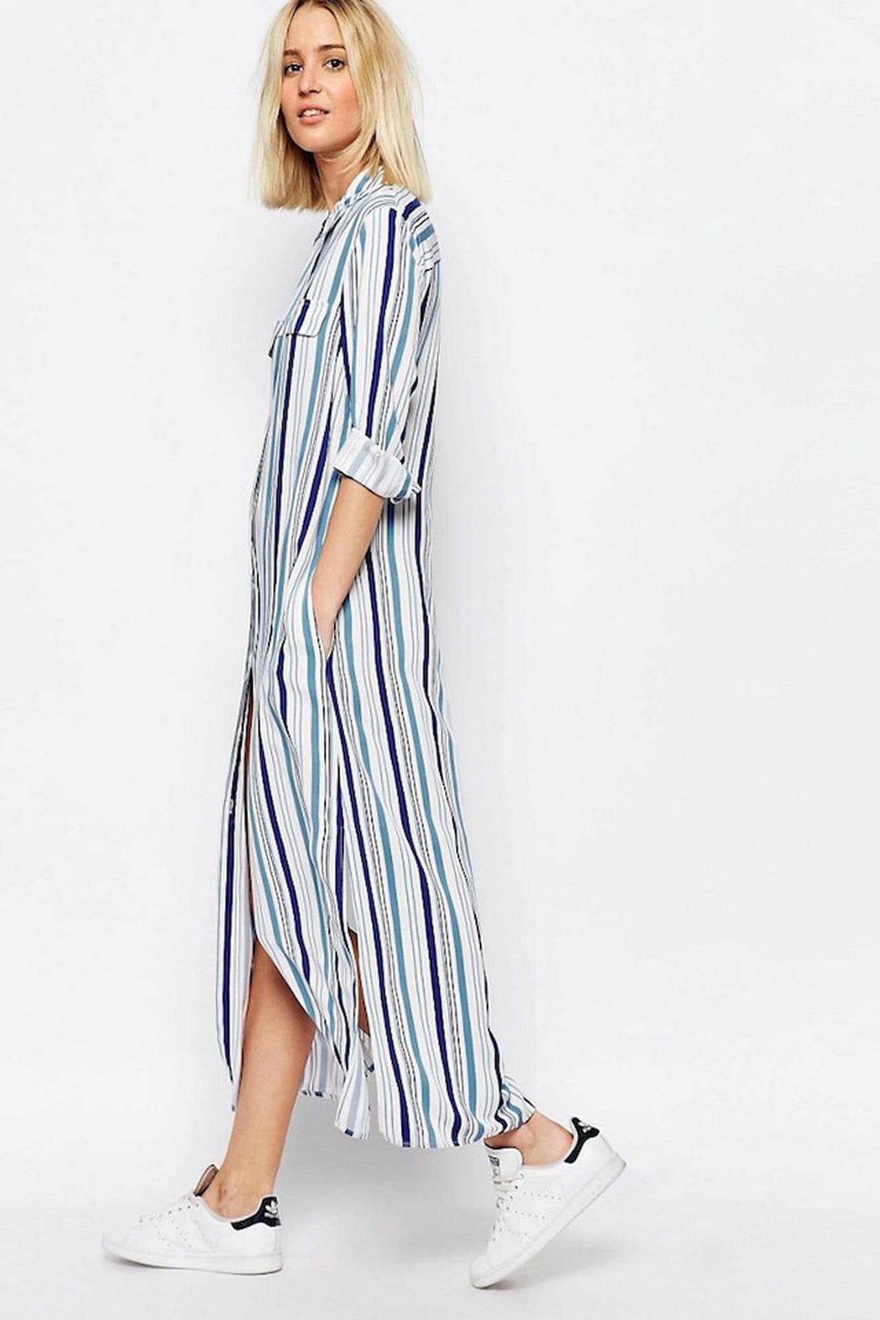 775da15a0a75 L abito chemisier a righe è ideale per il look del tempo libero.