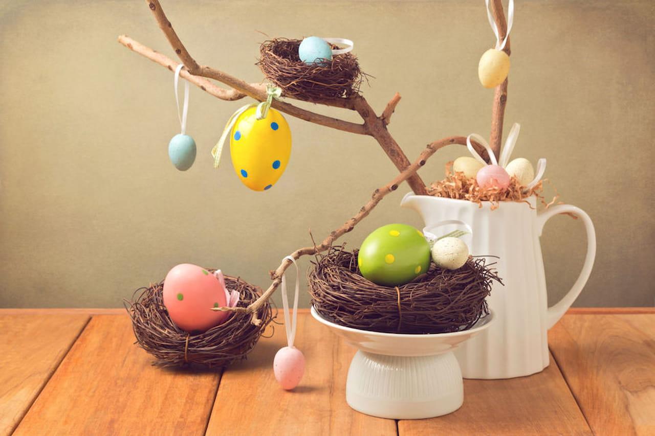 Addobbi di pasqua decorazioni per la casa con le uova - Decorazioni per pasqua ...