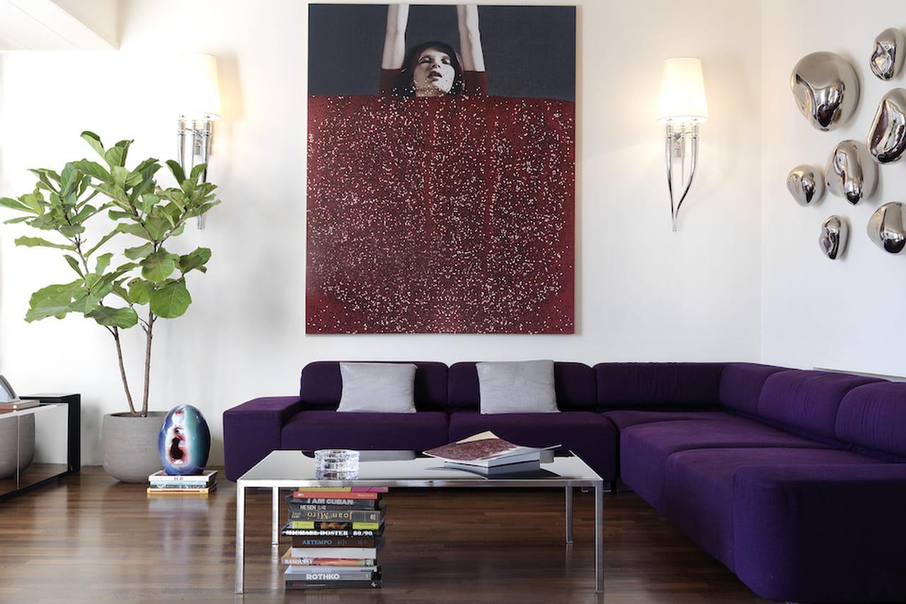 Ville da sogno appartamenti da favola - Divano color prugna ...