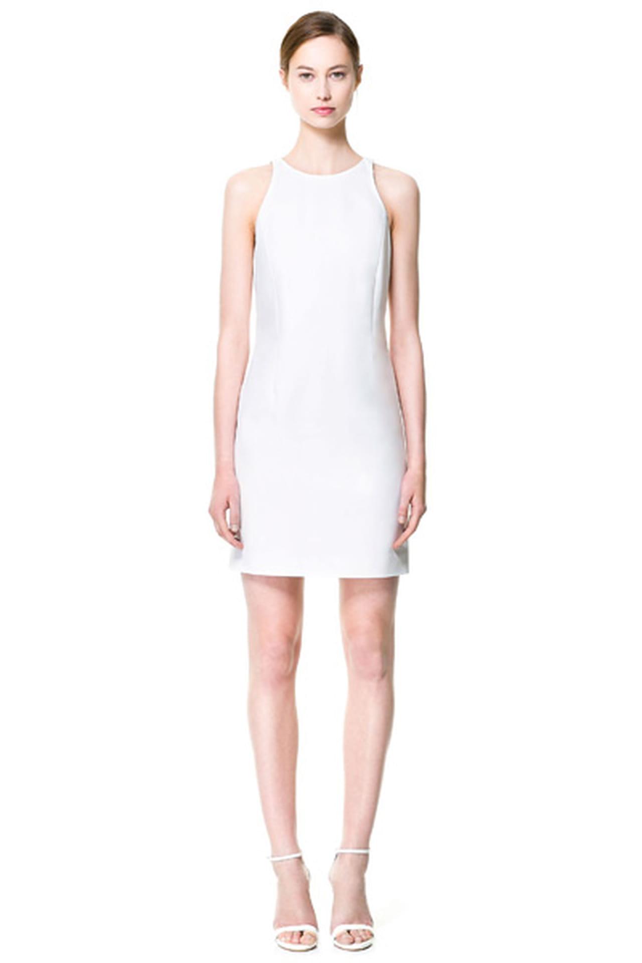 50bb924dff6bb فستان كلاسيكي من Zara. فستان أبيض من Zara. من موضة صيف 2013