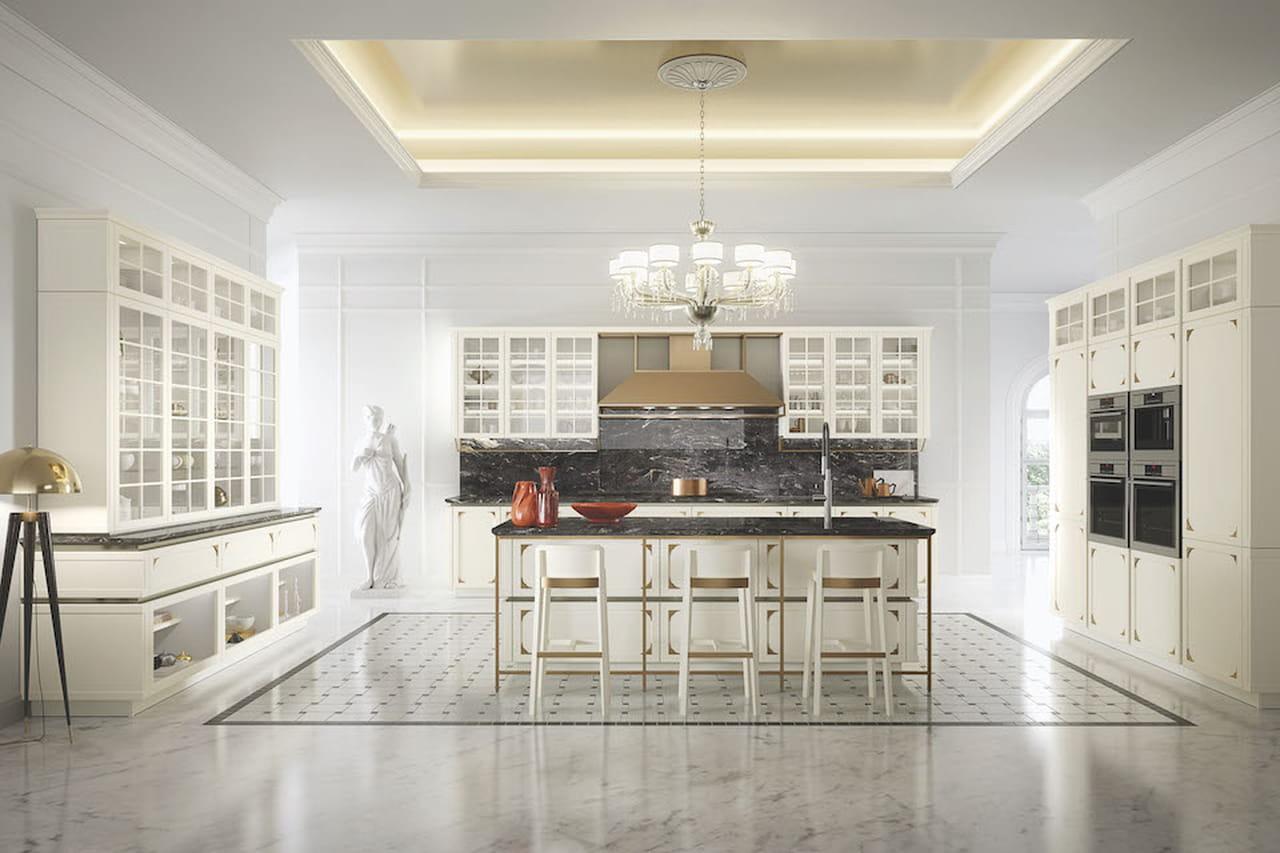 Cucine contemporanee con isola hi tech eco tech - Cucina classica contemporanea ...