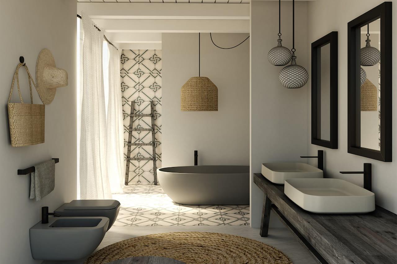 bagno moderno: estetico e funzionale - Bagni Moderni Con Vasca