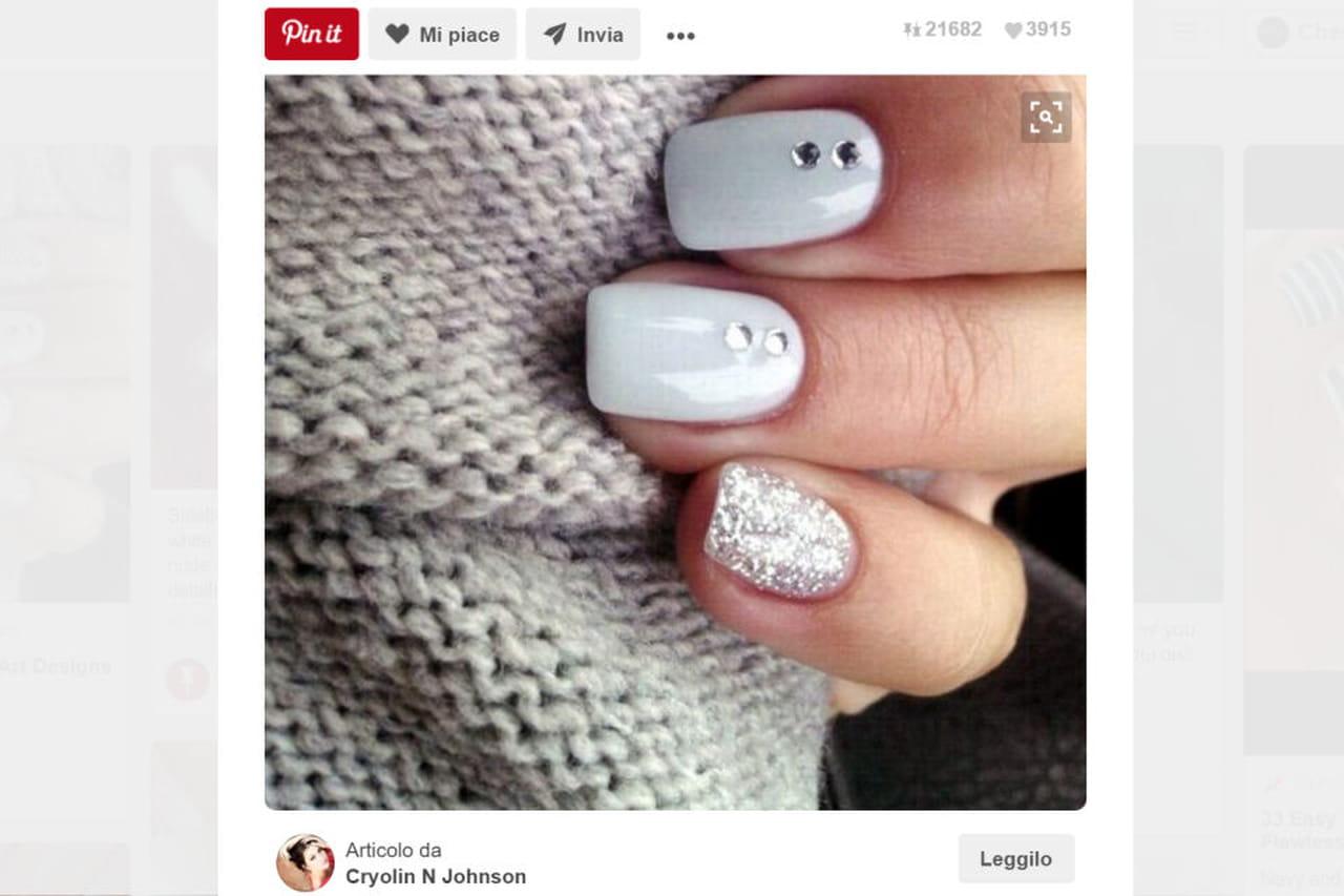 Super Smalto bianco: nail art semplici e creative DV97