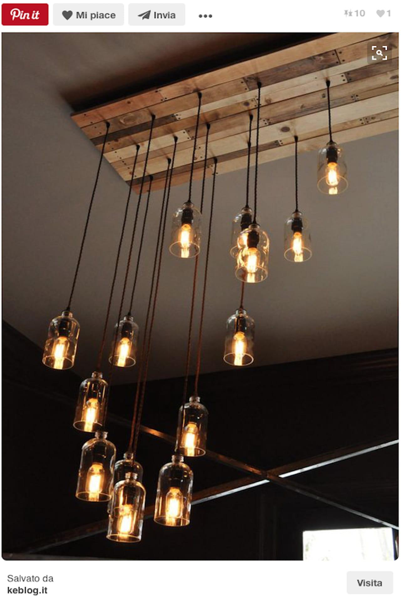 ... in vetro sono stoviglie perfette per creare lampadari fai da te