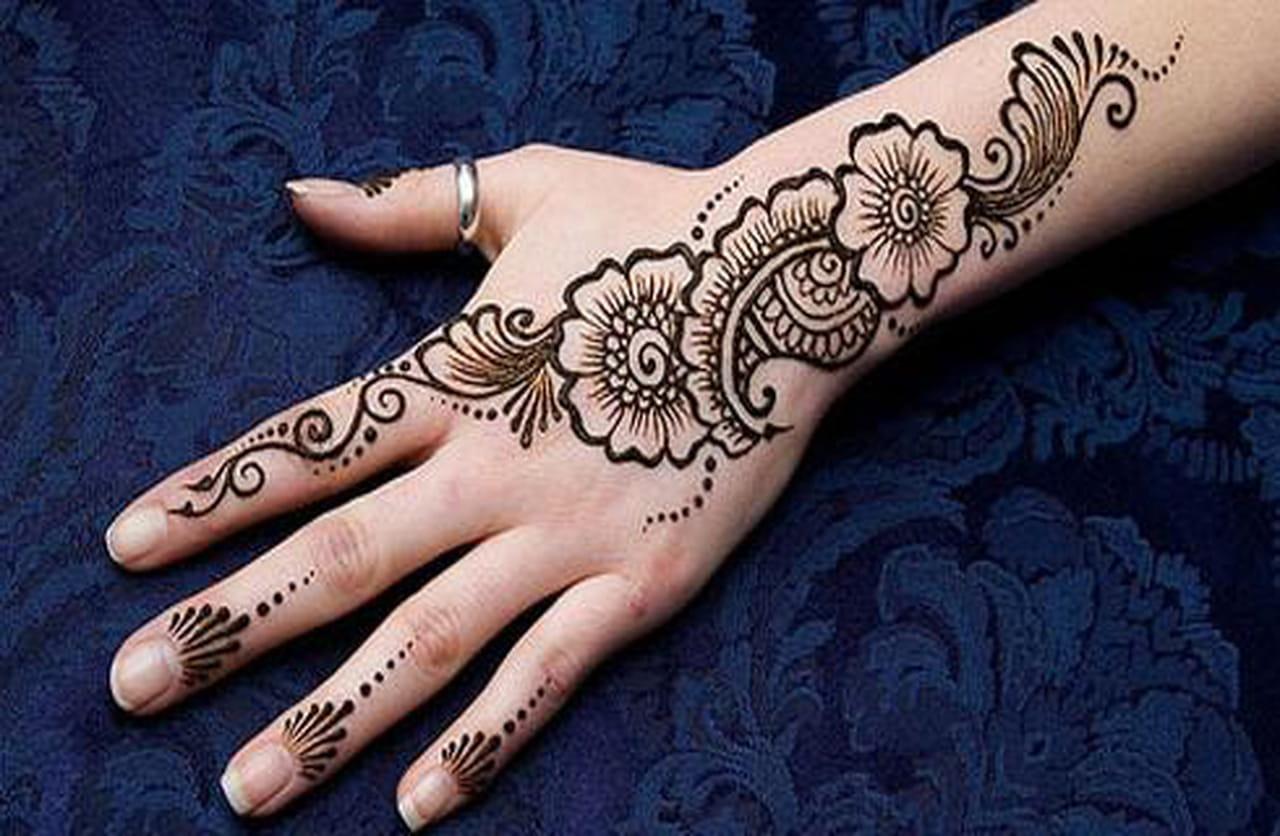 تصميمات رائعة لنقش الحناء لعروس 2014