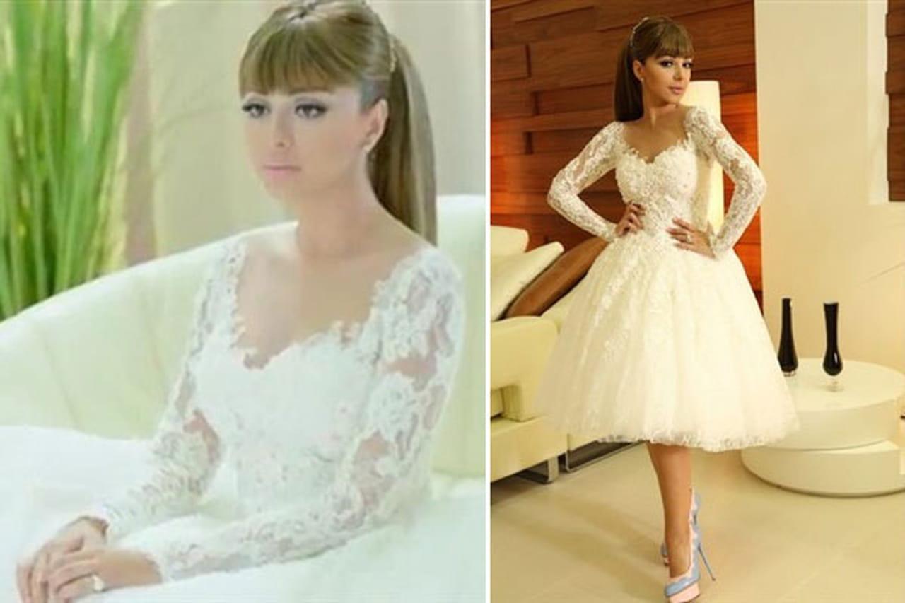 صور فستان زفاف مريم فارس فى مسلسل اتهام رمضان 2014