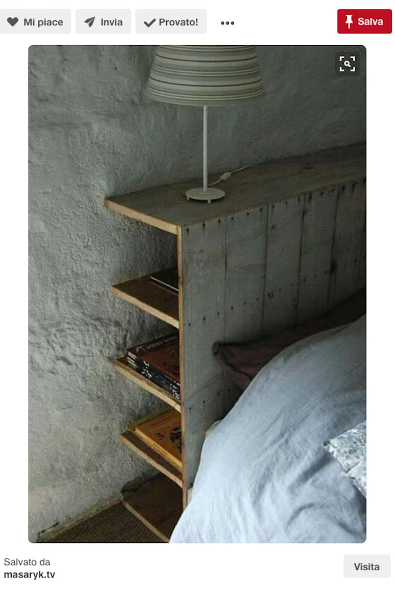 Testiera letto fai da te imbottita di legno idee da - Testiera letto in legno ...