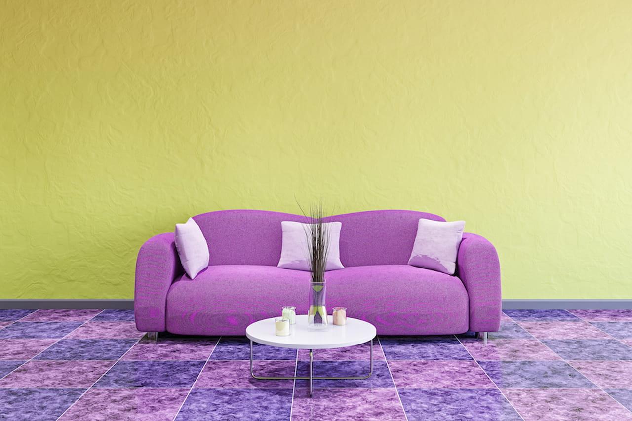 Pareti Viola E Giallo : Colori complementari le pareti si accendono a vicenda
