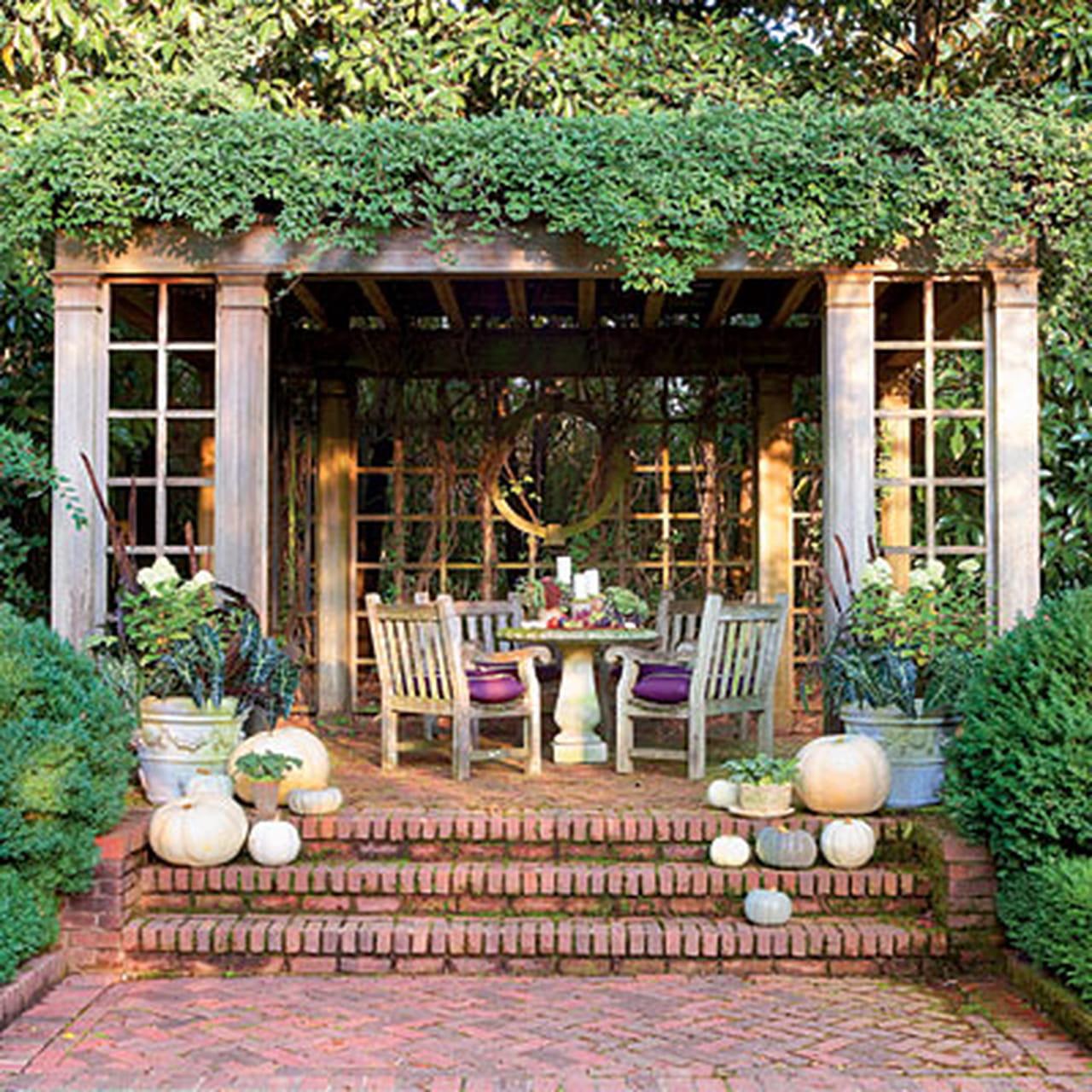 الحديقة المنزلية الصغيرة صور: أفكار مبدعة لديكور التراس هذا الشتاء