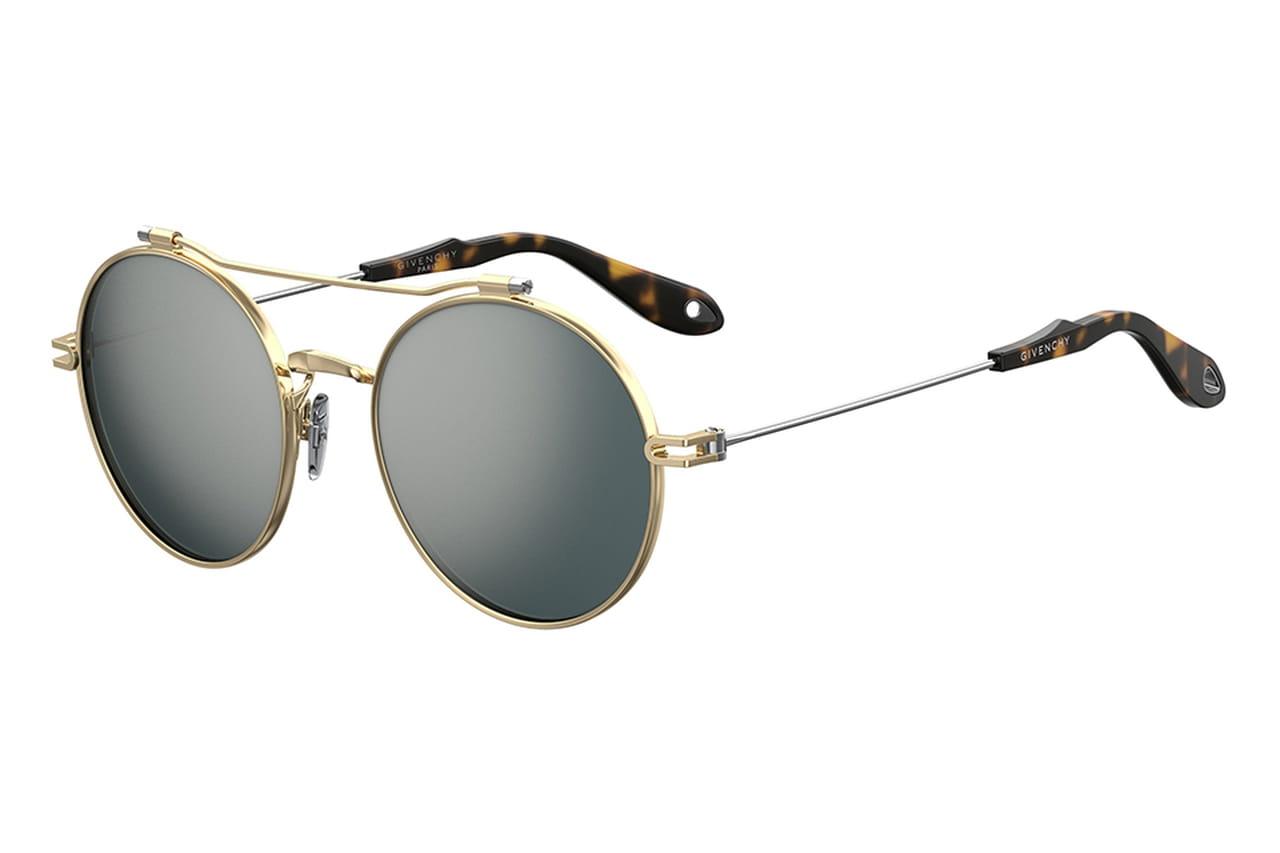5462fb9bb2f2d Óculos de sol com dourado da Givenchy. © Divulgação