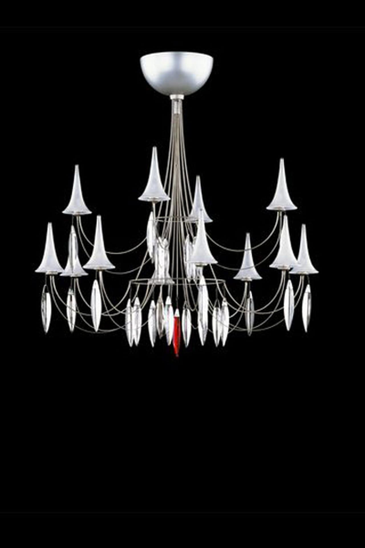رفاهية ديكورات عيد الفطر 2014 فى تصميمات نجف وثريات باكارا baccarat