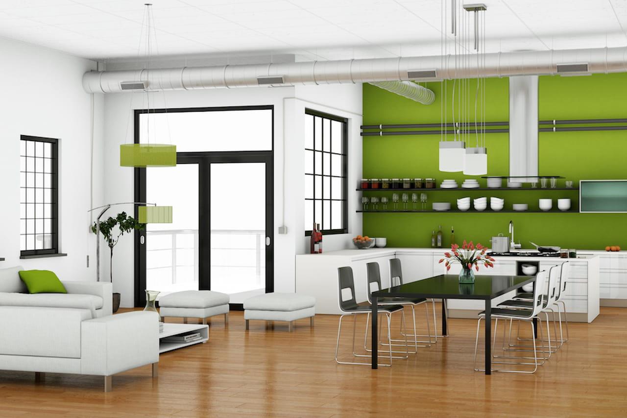 Awesome Pareti Cucina Verde Contemporary - Ideas & Design 2017 ...