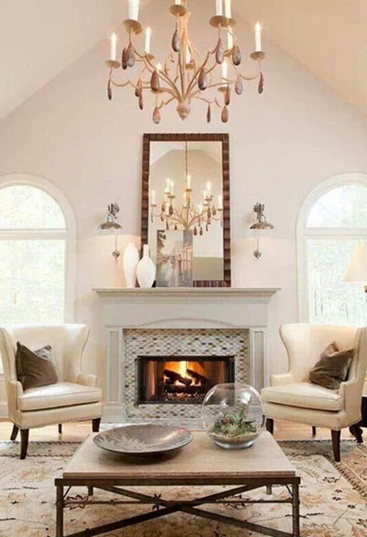 Barn Wood Wall Fireplace