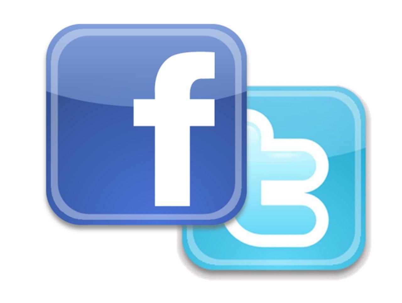 logo twitter e facebook