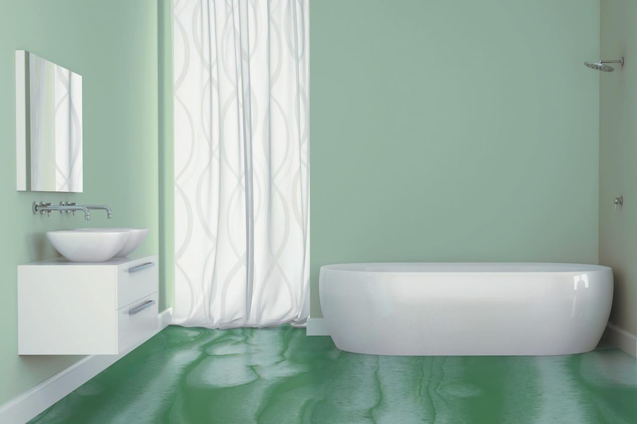 Pareti colorate idee per tutte le stanze - Pareti colorate bagno ...
