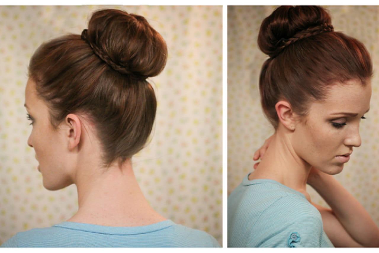 Как сделать гульку из волос фото