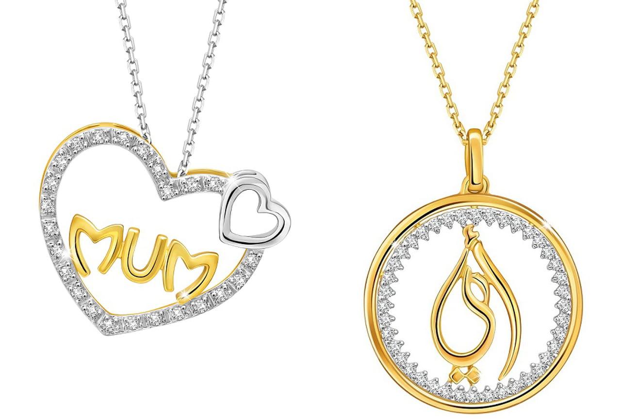 93b441a2e تحتفل علامة بيور جولد للمجوهرات بعيد الأم بتشكيلة خاصة من القلائد من الذهب  والألماس.