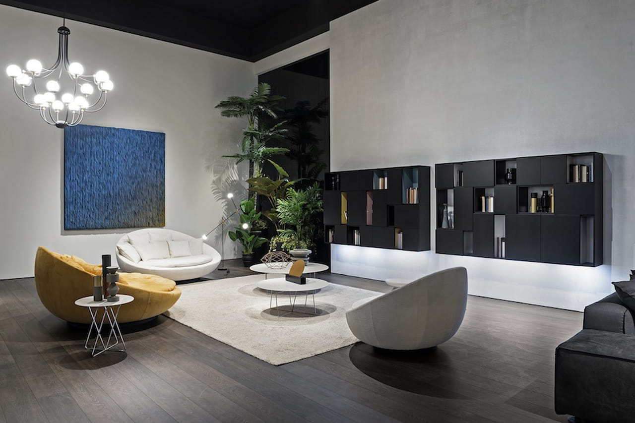 Pareti attrezzate moderne soluzioni per il soggiorno e for Pareti moderni