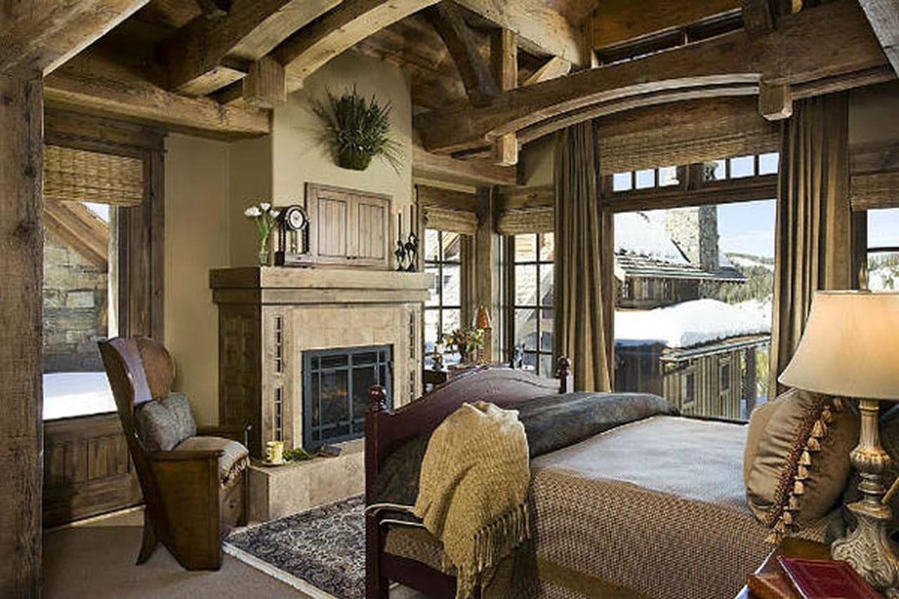 ديكور غرف النوم هذا الشتاء على طراز الروستيك