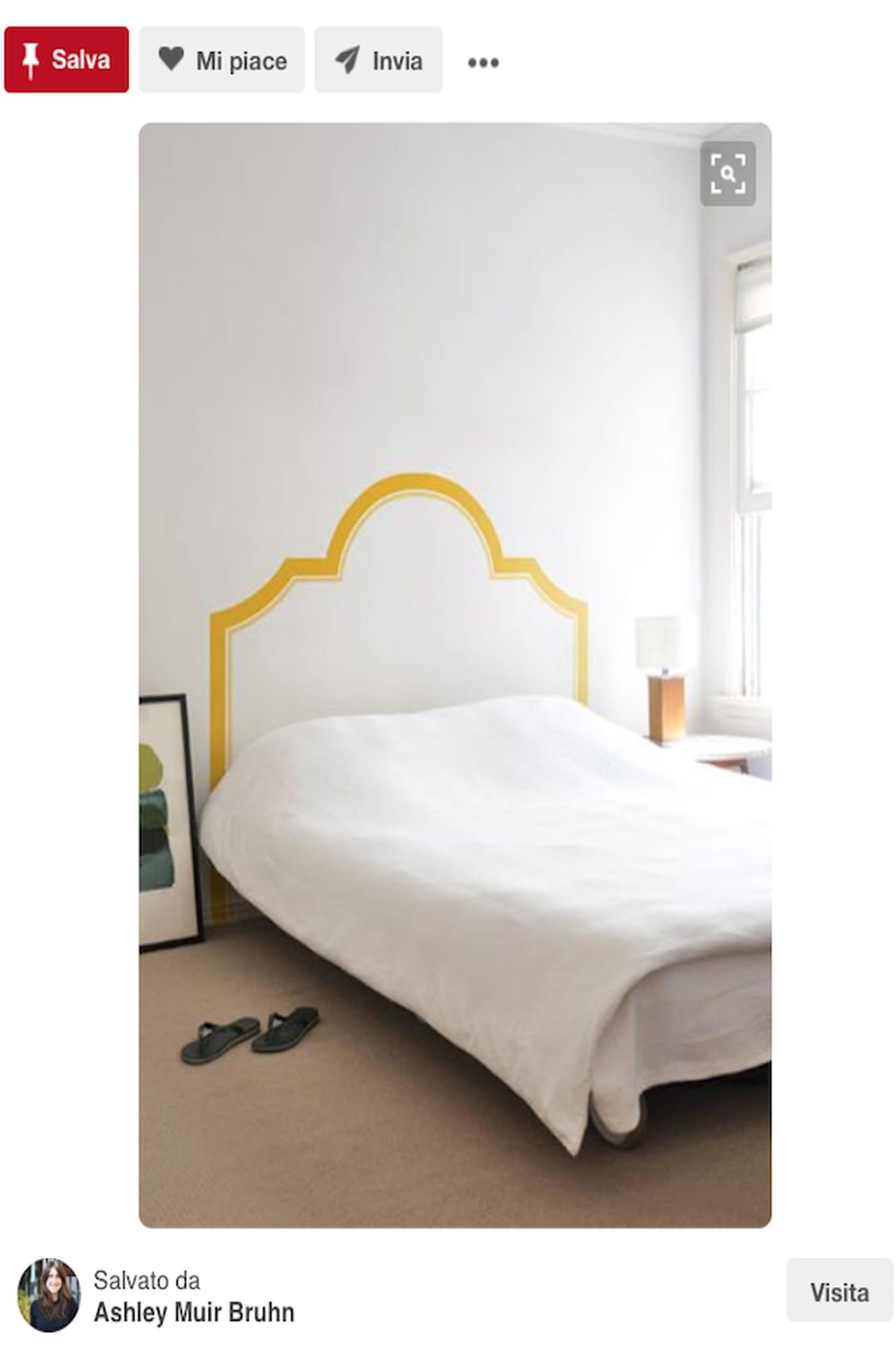 Testiera letto fai da te, imbottita, di legno: idee da Pinterest