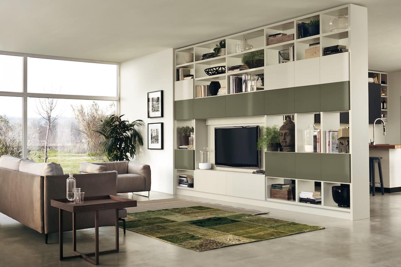 Pareti attrezzate moderne soluzioni per il soggiorno e for Immagini living moderni