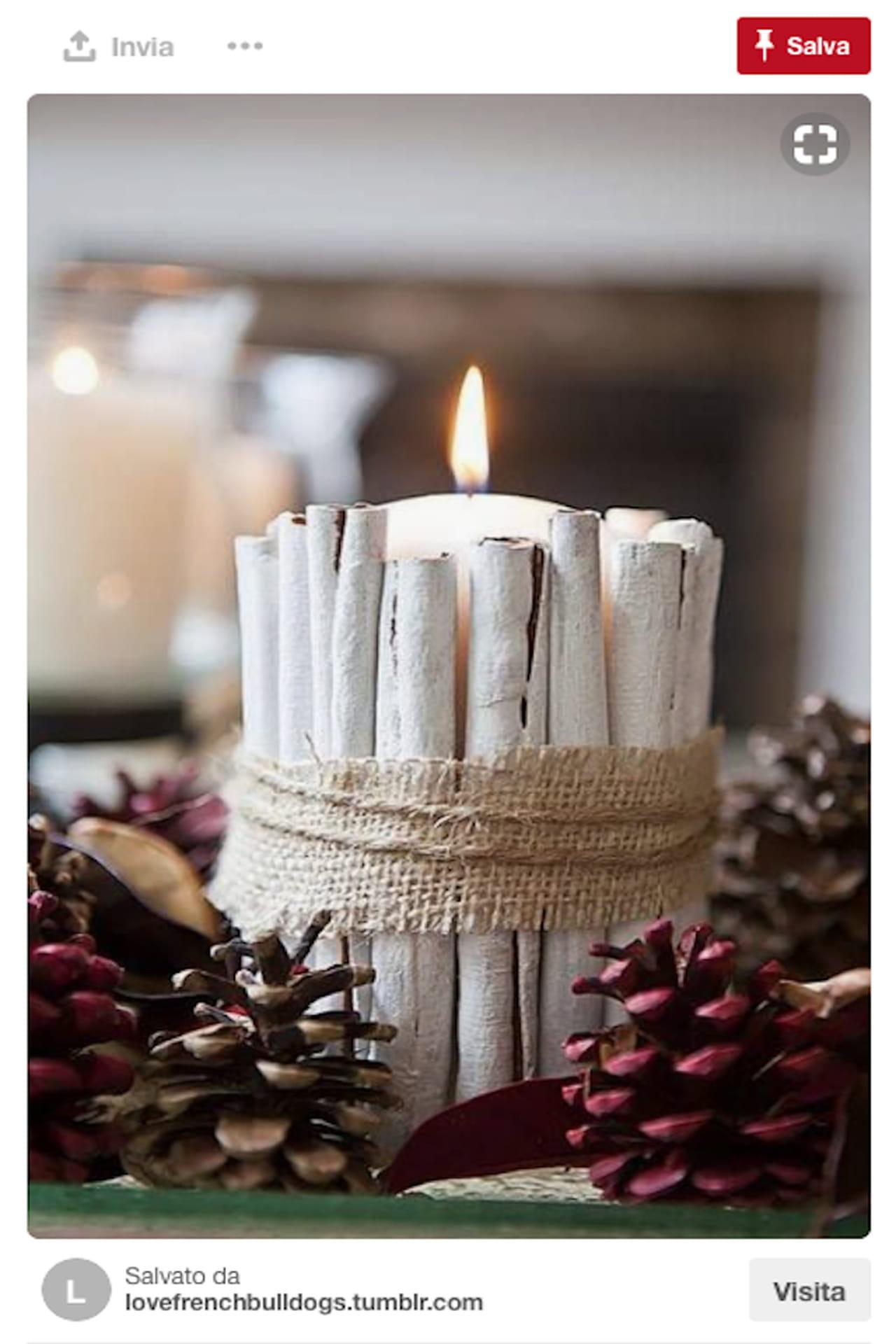 Centrotavola natalizio idee da pinterest con bacche pigne e candele - Centrotavola natalizi pinterest ...